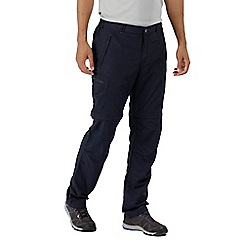 Regatta - Blue 'Leesville' zip off long length trousers