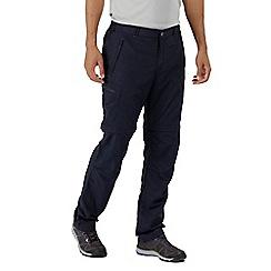 Regatta - Blue 'Leesville' zip off short length trousers