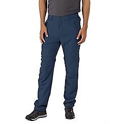 Regatta - Blue 'Leesville' zip off shorts length trousers