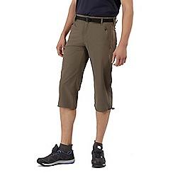 Regatta - Brown xert stretch capri trousers
