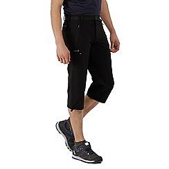 Regatta - Black xert stretch capri trousers
