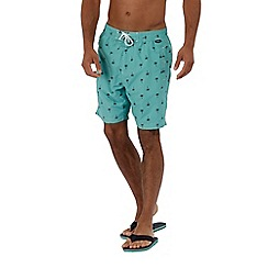 Regatta - Green 'Hadden' swim board shorts