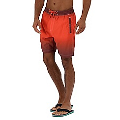 Regatta - Orange 'Hadden' swim board shorts