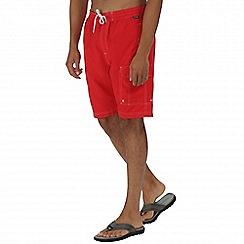 Regatta - Red hotham board shorts