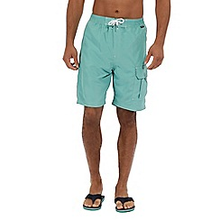 Regatta - Green 'Hotham' swim board shorts