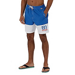 Regatta - Blue 'Brachtmar' swim shorts