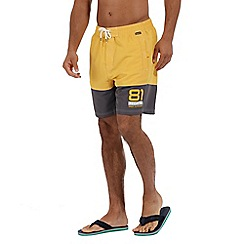 Regatta - Yellow 'Brachtmar' swim shorts