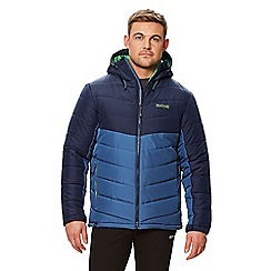 Regatta - Blue 'Nevado' quilted hooded jacket