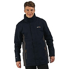 Regatta - Navy grey Telmar 3 in 1 waterproof jacket