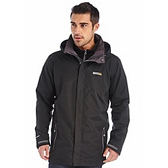 Regatta - Black telmar 3 in 1 waterproof jacket