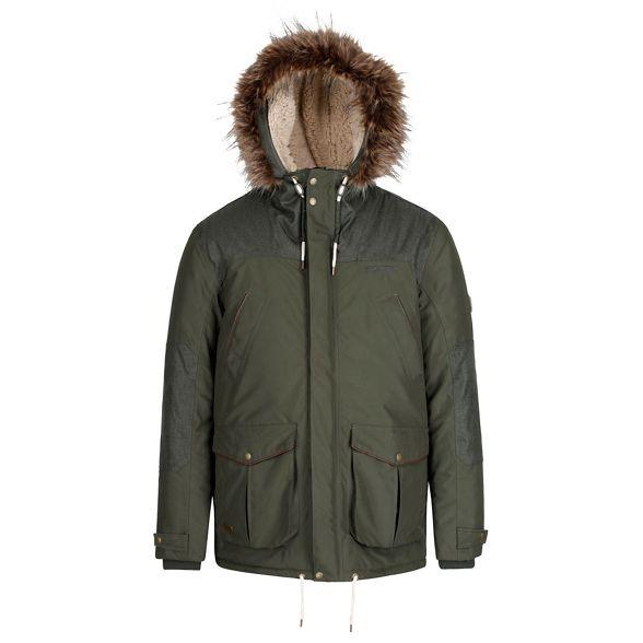 Regatta 'Aldrich' waterproof jacket parka hooded Green 4Srwqx4