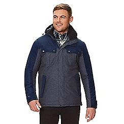Regatta - Blue 'Barric' insulated hooded waterproof jacket
