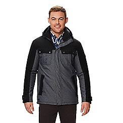 Regatta - Grey 'Barric' insulated hooded waterproof jacket