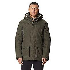 Regatta - Green 'Perran' insulated hooded waterproof jacket