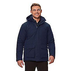 Regatta - Blue 'Perran' insulated hooded waterproof jacket