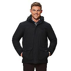 Regatta - Black 'Perran' insulated hooded waterproof jacket