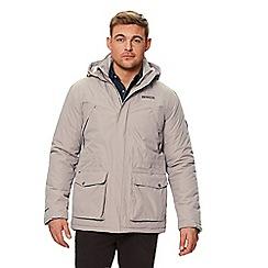 Regatta - Brown 'Perran' insulated hooded waterproof jacket