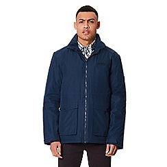 Regatta - Blue 'Hebson' insulated hooded waterproof jacket