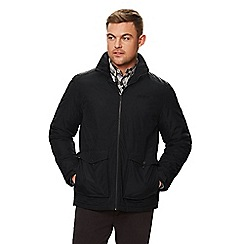 Regatta - Black 'Hebson' insulated hooded waterproof jacket