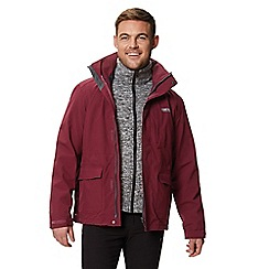 Regatta - Dark red 'Northton' 3 in 1 waterproof jacket