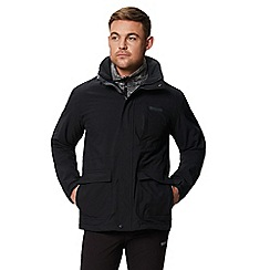 Regatta - Black 'Northton' 3 in 1 waterproof jacket