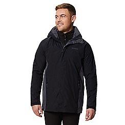 Regatta - Black 'Telmar' 3 in 1 waterproof jacket