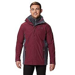 Regatta - Dark red 'Telmar' 3 in 1 waterproof jacket