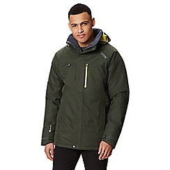 Regatta - Green 'Highside' insulated hooded waterproof jacket