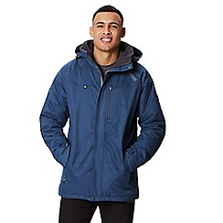 Regatta - Blue 'Highside' insulated hooded waterproof jacket