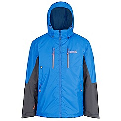 Regatta - Blue 'Fabens' insulated hooded waterproof jacket