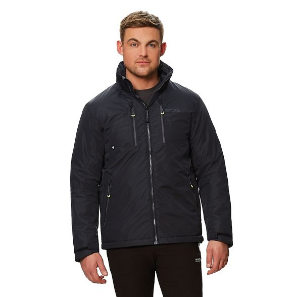 insulated hooded waterproof Regatta jacket 'Fabens' Black ZEAwzxOq8