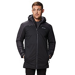 Regatta - Black 'Largo' insulated hooded waterproof jacket