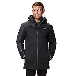 Regatta - Black 'Largo' insulated hooded waterproof jacket