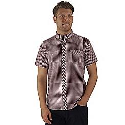 Regatta - Burgundy randall short sleeved shirt