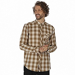 Regatta - Brown 'Loman' long sleeve shirt