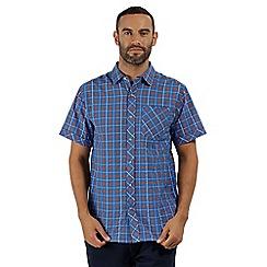 Regatta - Blue 'Deakin' short sleeved shirt