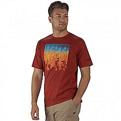 Regatta - Burgundy Cline printed t-shirt
