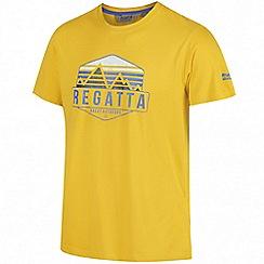 Regatta - Yellow 'Cline' print t-shirt
