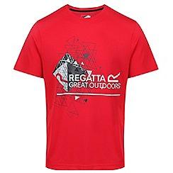 Regatta - Red 'Fingal' technical print t-shirt