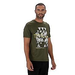 Regatta - Green 'Fingal' technical print t-shirt