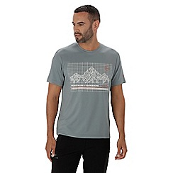 Regatta - Grey 'Fingal' technical print t-shirt