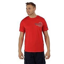 Regatta - Red 'Tancredo' print t-shirt