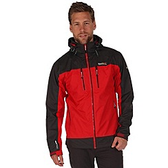Regatta - Red/grey calderdale waterproof jacket