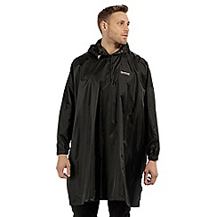 Regatta - Black 'Pier' packaway poncho jacket