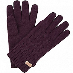 Regatta - Purple 'Multimix' knit gloves