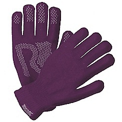Regatta - Purple 'Brevis' knit gloves