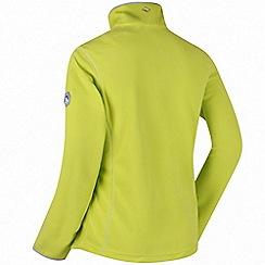 Regatta - Lime floreo sporty zip through fleece