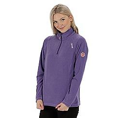 Regatta - Purple 'Montes' fleece sweater