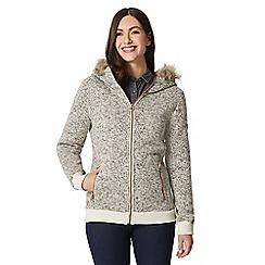Regatta - Cream 'Rhoswen' bomber hooded jacket