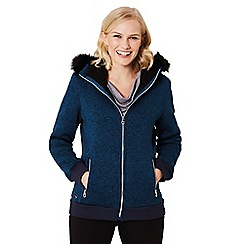 Regatta - Blue 'Rhoswen' bomber hooded jacket